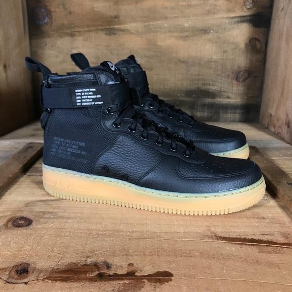 sneakers for cheap 67ff5 b528b Nike Shoes | New Sf Air Force 1 Mid Black Gum | Poshmark